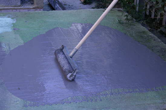 103S waterproofing membrane applied with spike roller