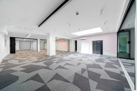 A wide open space for the community centre