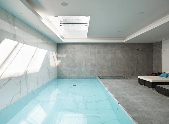 Luxury Basement Protected by Newton Waterproofing.