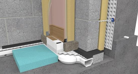Cavity Drain Membrane internal basement waterproofing