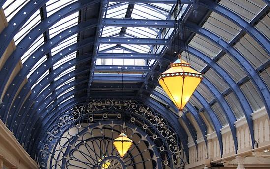 Heritage patent glazing, Winter Gardens, Blackpool
