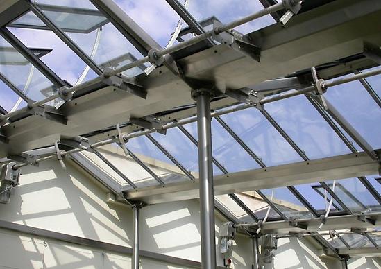 Heritage patent glazing, Botanical Gardens, Sheffield