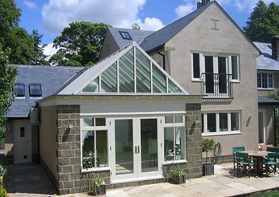 Skyline Box patent glazing system for domestic dwelling
