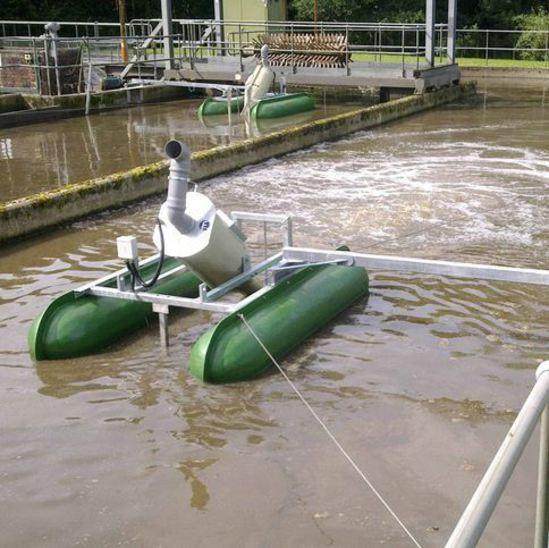 Spiral Aerator on hire at Scottish Water sewage works