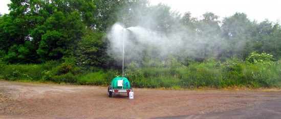 Odour neutralisers can be incorporated into the mist