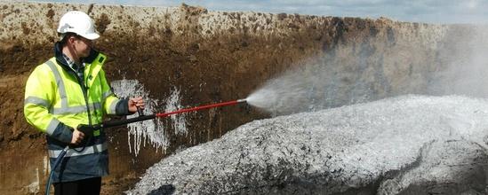 FoamLance spraying foam