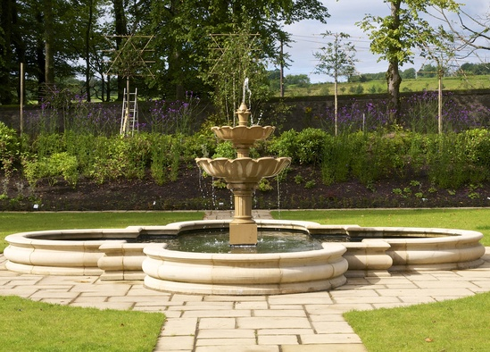 Cast Stone Double Lotus Fountain Haddonstone Esi