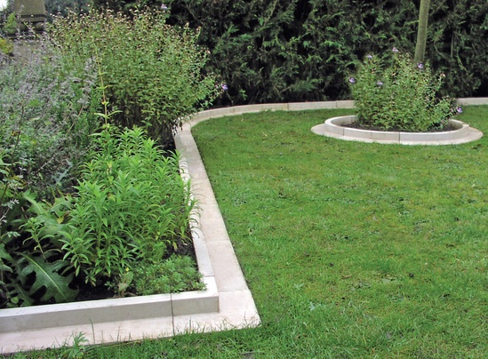 Arcadian lawn and paving edging cast stone haddonstone for Garden edging stone designs