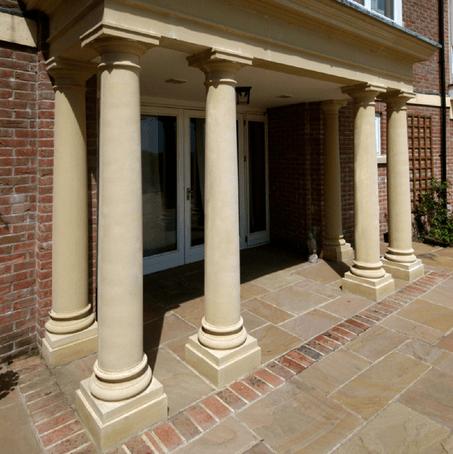M7 short tuscan column cast stone haddonstone esi for Tuscan columns