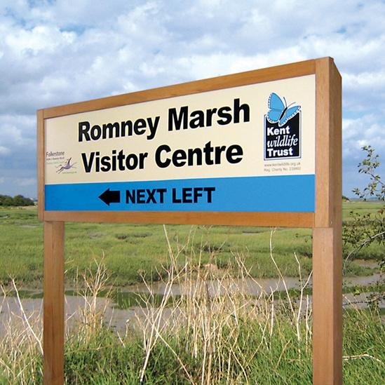 Wildlife Trust nature reserve sign
