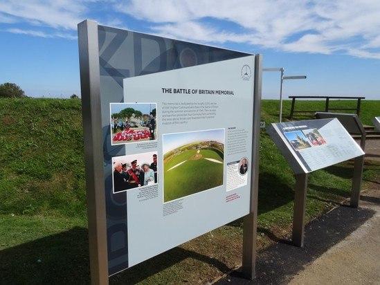 Bespoke interpretation sign, Battle of Britain Memorial