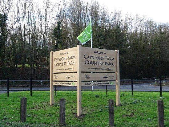 Green Flag Park welcome signage