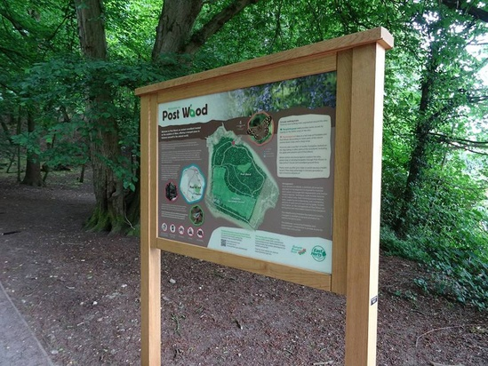 Bowman noticeboard with map