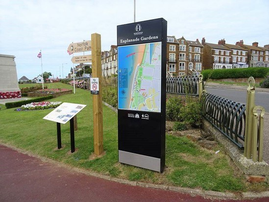 Monolith sign and information lectern - Hunstanton