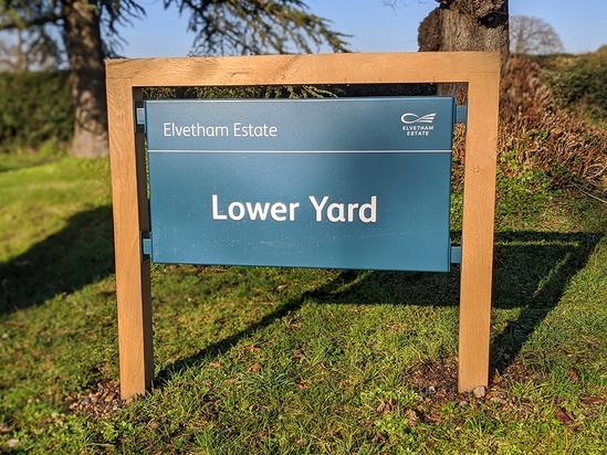 Printed sign - Elvetham Estate