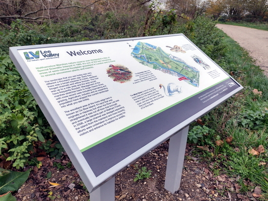 Orientation lectern for regional park