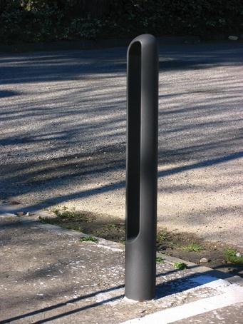 A modular piece, bollard or containment  bicycle rack