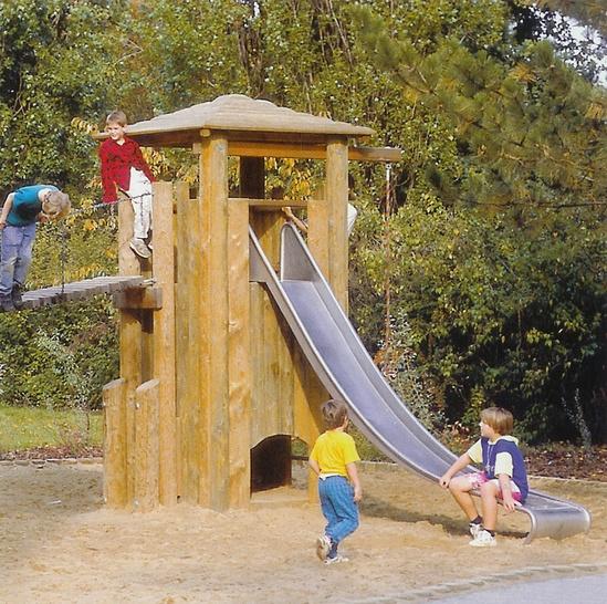 Stainless steel slide, width 0.45