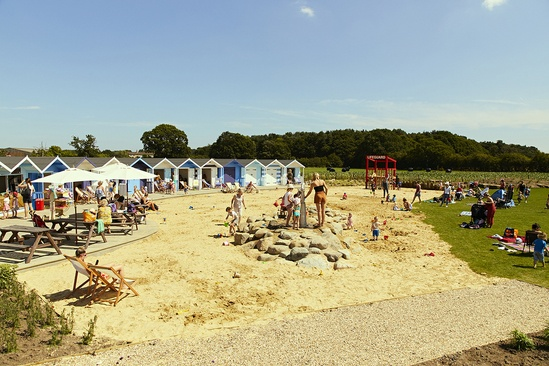 Sand and water play at Piglets farm attraction, York