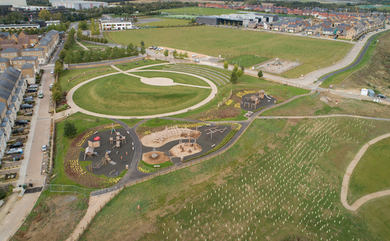 Play areas for Priors Hall development, Corby