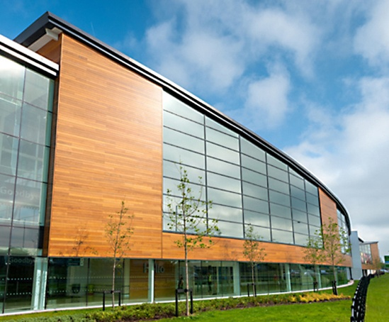 Cedar cladding tesco store widnes silva timber esi for Store building design