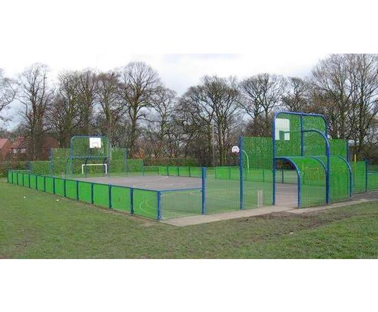 Full size multi sports ball court