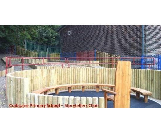 Storyteller area, Crab Lane Primary School