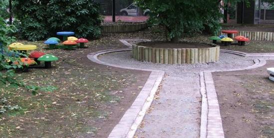 Play area construction, St Margarets CofE Primary Schoo