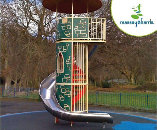Massey & Harris Spiral Slide and Tower
