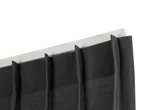 4800 hand-drawn, wide channel curtain rail
