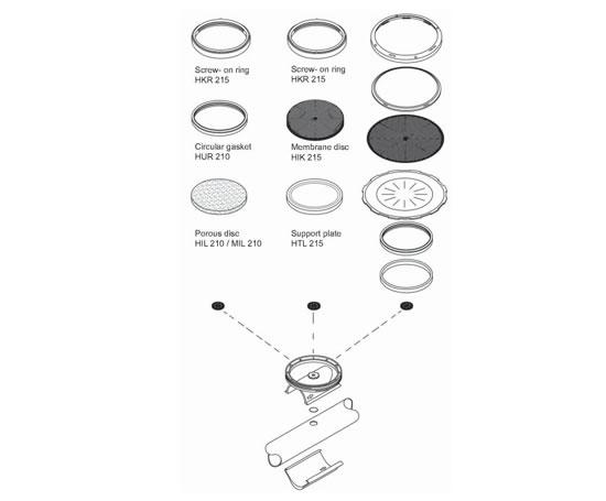 Disc diffuser system type ABS | Sulzer | ESI Enviropro