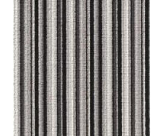 Black And White Striped Wool Carpet - Carpet Vidalondon