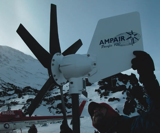 Ampair 100 wind turbine