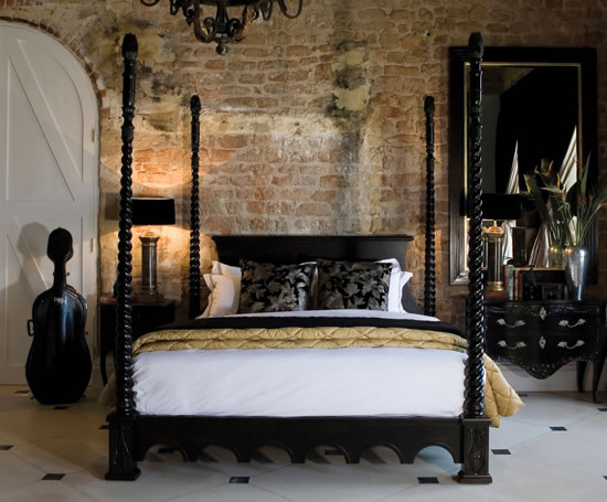 Venetian four poster bed and so to bed esi interior design for Bedroom designs with four poster beds