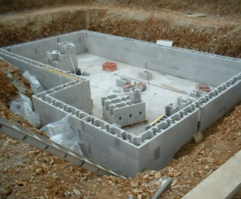 Stepoc® is ideal for basement construction