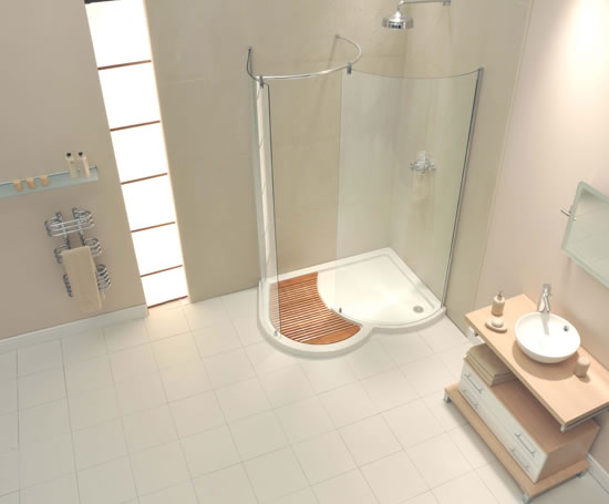 AquaSpace Organic walk-in shower enclosures | Aqualux Products ...