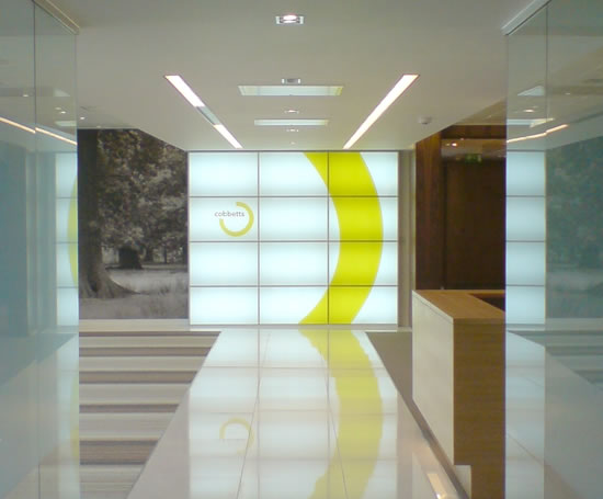 Light Walls modubloc light wall system | atwork jk | esi interior design