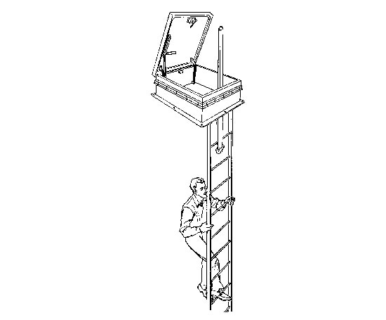 Gs 50t Ladder Access Roof Hatch With Skylight Bilco Uk