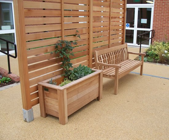 Tudor iroko bench