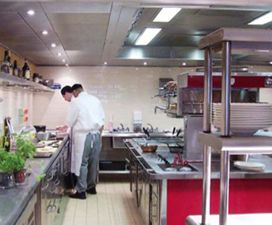 Restaurant Kitchen Ventilation Design calcott manor hotel ventilated ceiling | britannia kitchen