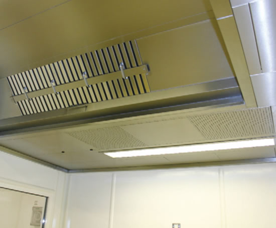 HMP Garth ventilated kitchen ceiling