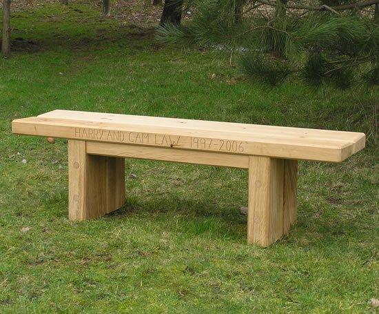 Zen Fsc Green Oak Bench Chris Nangle Furniture Esi