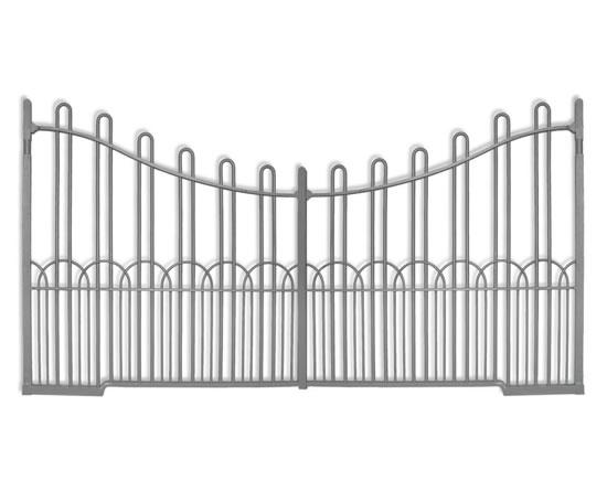 Traditional wrought iron driveway gates topp co esi