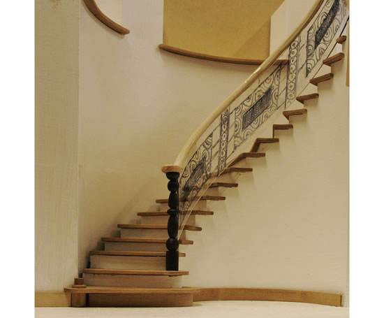 Sweeping Staircase For A New Home Church House Furniture