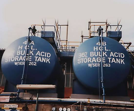 Hydrochloric acid bunds lined in CounterLine CP