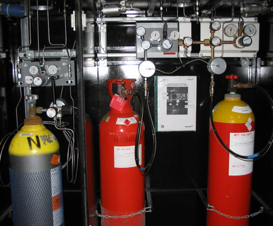 Gas installation at the University of Birmingham