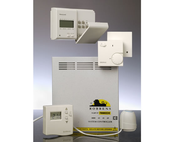 Underfloor heating controllers for individual rooms for Room heating systems