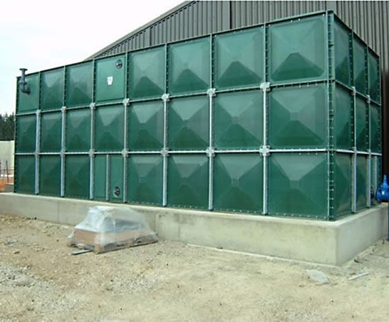 GRP sectional potable water storage tank