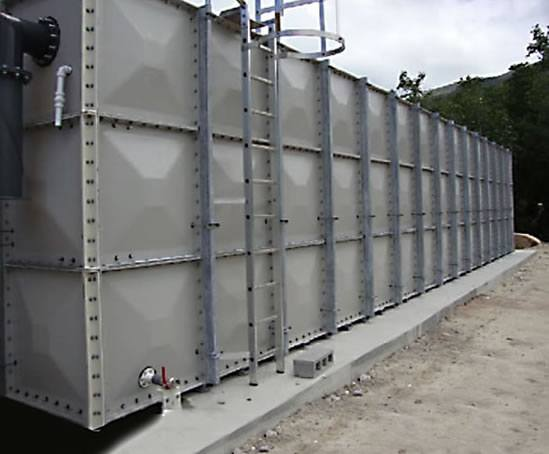 GRP sectional irrigation tanks