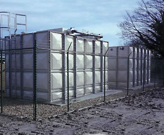 GRP sectional cold water storage tank